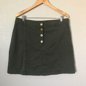 Banana Republic Button Front A-Line Skirt